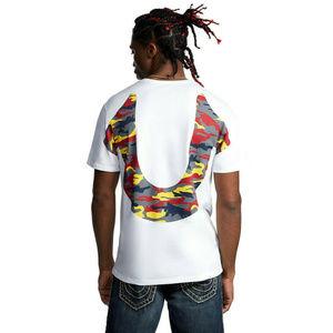 True Religion Men's Camo Logo Tee T-Shirt